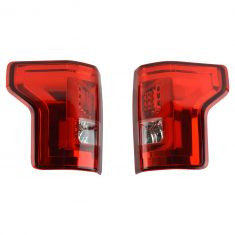 15-16 Ford F150 (w/o Blind Spot) Performance Red Lens LED Taillight Pair