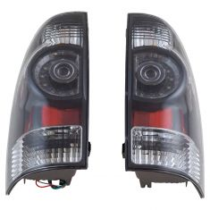 05-15 Toyota Tacoma Performance LED Taillight Black Bezel Pair