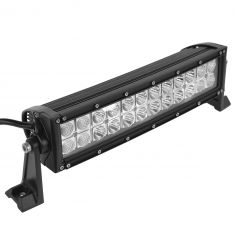 14 Inch - (72 Watt) Auxillary Flood & Spot Combination 24 LED Light Bar w/Curved Rivited Trim