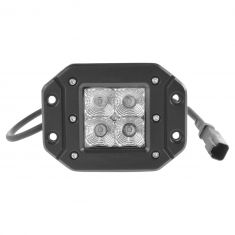 4 Inch - Square (12 Watt) Spot Beam 4 LED Flush Mount Offroad Work Light