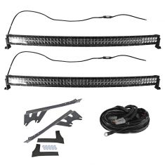7-15 Jeep Wrangler Dual 50 Inch Curved LED Light Bar Set w/ Mounting Bracket & Harness