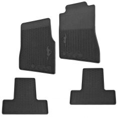 11-14 Ford Mustang All Weather Molded Vinyl (w/Horse Logo) Contour Floor Mats (Set of 4) (Ford)