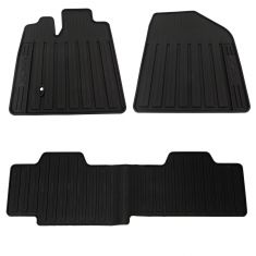"07-10 Lincoln MKX Front & Rear Molded Black Rubber ""MKX"" Logoed Floor Mat Kit (Set of 3) (Ford)"