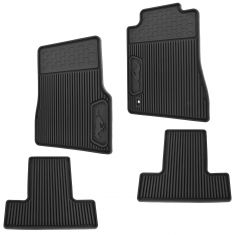 05-09 Mustang Frt & Rear Molded Ebony Rubber (w/Horse Logo) All Weather Floor Mats (Set of 4) (Ford)