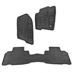 15-16 Ford Edge Frt & Rear Molded Black Rubber ~EDGE~ Logoed All Weather Floor Mat (Set of 3) (Ford)