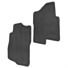 07-14 Chevy, GMC Full Size SUV Black Carpeted Front Floor Mat PAIR (GM)