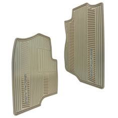 07-14 Cadillac Escalade Mld Cashmere Rubber ~ESCALADE~ Logoed Front All Weather Floor Mat PAIR (GM)