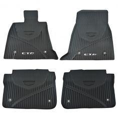 16-17 Cadillac CT6 Molded Black Rubber ~CT6~ Logoed All Weather Floor Mat kit (Set of 4) (GM)