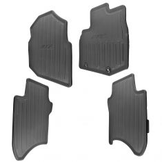 09-14 Honda Fit Molded Black Rubber ~FIT~ Logoed Front & Rear Floor Mat Kit  (Set of 4) (Honda)