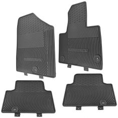 13-15 Santa Fe 5 Molded Black Rubber ~Sante Fe~ Logoed All Weather Floor Mat (Set of 4) (Hyundai)