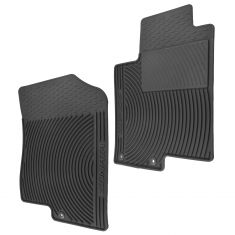 06-10 Sonata Molded Black Rubber ~Sonata~ Logoed All Weather Front Floor Mat PAIR (Hyundai)