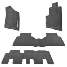 09-13 Kia Sorento (7 Passenger) Embroidered ~SORENTO~ Black Carpeted Floor Mat Kit (Set of 5) (Kia)