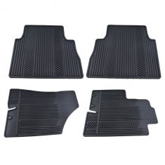 09-13 Kia Sorento (5 Pass) Molded Blk Rubber ~SORENTO~ Logoed Frnt & Rear Floor Mat (Set of 4) (Kia)