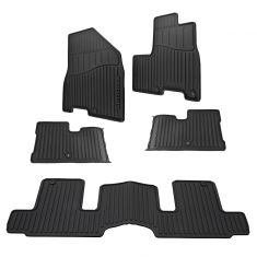 15-16 Kia Sedona (8 Pass) ~Sedona~ Logoed All Weather Molded Rubber Floor Mat Kit (Set of 5) (Kia)