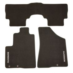 11-13 Kia Sorento (5 Passenger) Embroidered ~SORENTO~ Black Carpeted Floor Mat Kit (Set of 3) (Kia)