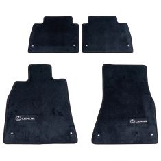 07-12 Lexus LS460 RWD w/SWB Embroidered ~Lexus~ Black Carpeted Floor Mat Kit (Set of 4) (Lexus)