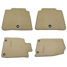 13-15 Lexus ES350, ES300H Embroidered ~Lexus~ Ivory Carpeted Floor Mat Kit (Set of 4) (Lexus)