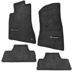 06-13 Lexus IS250, IS350 RWD Black Carpeted ~LEXUS~ Logoed Floor Mat Kit (Set of 4) (Lexus)