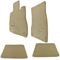 01-06 Lexus LS430 Cashmere Carpeted ~LEXUS~ Logoed Floor Mat Kit (Set of 4) (Lexus)