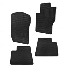07-12 MB GL-Class; 06-11 M-Class Complete All Season Black Rubber Floor Mat (Set of 4) (Mercedes)