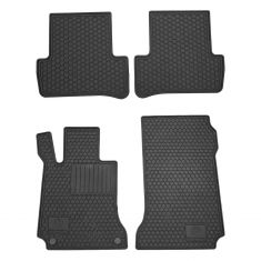 08-14 MB C-Class Complete All Season Black Rubber Floor Mat (Set of 4) (Mercedes)