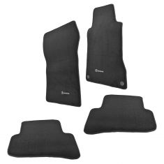 02-07 MB C-Class W203, S203 Front & Rear Anthracite Carpeted Floor Mats (Set of 4) (Mercedes Benz)