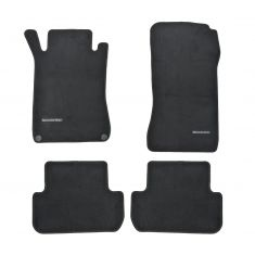 04-09 MB CLK-Class Conv Embroidered ~Mercedes Benz~ Black Carpeted Floor Mat (Set of 4) (Mer Benz)