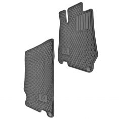 03-12 MB SL Class (R230 Ch) Mld Black Rubber ~Mercedes-Benz~ Logoed All Weather Floor Mat PAIR (MB)