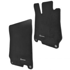 03-12 MB SL Class (R230 Ch) Embroiderd ~Mercedes Benz~ Black Carpeted Floor Mat PAIR (Mercedes Benz)