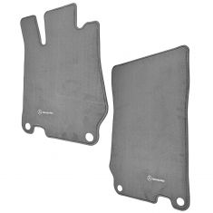 03-12 MB SL Class (R230 Ch) Embroiderd ~Mercedes Benz~ Ash Grey Carpeted Floor Mat PAIR (M Benz)