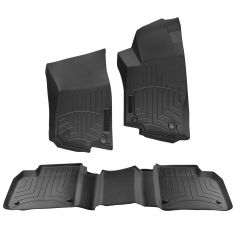 13-15 MB GL, ML; 16 GLE Series Mld Blk Rubber ~Mercedes Benz~ Logoed Floor Liner Kit (Set of 3) (MB)