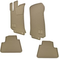 06-13 MB R-Class (V251 Ch) Mld Beige Rbber ~Mercedes-Benz~ Logoed All Weather Ft & RR Floor Mat (MB)