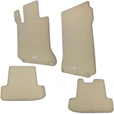 10-16 MB E-Class Coupe C207 Type Embroidered ~Mercedes Benz~ Beige Carpeted Flr Mat (Set of 4) (MB)
