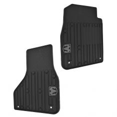 13-15 Ram 1500, 2500, 3500 Std & Quad Cab Front Molded Black Rubber Floor Mat PAIR (Mopar)