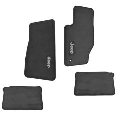 05-07 Grand Cherokee; 06-07 Commander Frt & Rear Med Slate Gray Carpet Floor Mats (Set of 4) (Mopar)