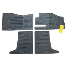 05-07 Gr Cher; 06-07 Commndr Slate Gray Rubr ~Jeep~ Logoed All Weather Slush Flr Mat (Set of 4) (MP)