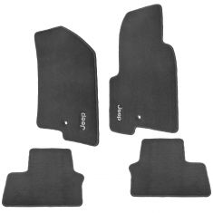 07-15 Jeep Compass, Patriot Embroidered ~Jeep~ Slate Gray Carpeted Floor Mat Kit (Set of 4) (Mopar)