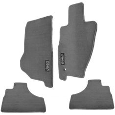 05-07 Jeep Liberty Embroidered ~Jeep~ Slate Gray Carpeted Floor Mat Kit (Set of 4) (Mopar)