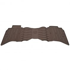 13-16 Ram 1500-3500 Crew Cab ~Rams Head~ Logoed Canyon Brown Rear Slush Floor Mat (Mopar)