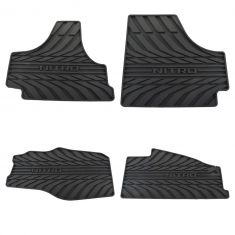 07-10 Dodge Nitro Molded Dark Slate Rubber ~NITRO~ Logoed All Weather Floor Mat Kit (Set of 4) (MP)