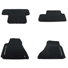08-10 Challenger Dark Slate Gray Carpeted ~CHALLENGER~ Logoed Frt & Rr Floor Mat Kit (Set of 4) (MP)