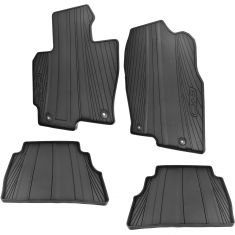 13-16 Mazda CX-5 Molded Black Rubber ~CX-5~ Logoed All Weather Floor Mat Kit (Set of 4) (Mazda)
