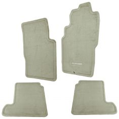 01-04 Pathfinder Embroidered ~PATHFINDER~ Frnt & Rear Beige Carpeted Flr Mat Kit (Set of 4) (Nissan)
