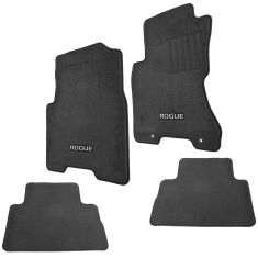 08-13 Nissan Rogue Embroidered ~ROGUE~ Black Carpeted Front & Rear Floor Mat Kit (Set of 4) (Nissan)