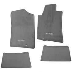 09-14 Maxima Embroidered ~MAXIMA~ Gray Carpeted Front & Rear Floor Mat Kit (Set of 4) (Nissan)
