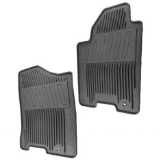08-15 Nissan Titan Molded Black Rubber ~TITAN~ Logoed All Weather Front Floor Mat PAIR (Nissan)