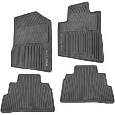 15-17 Murano Molded Black Rubber ~MURANO~ Logoed All Weather Floor Mat Kit (Set of 4) (Nissan)