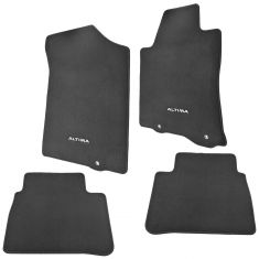 13-15 Nissan Altima Embroidered ~ALTIMA~ Black Carpeted Front & Rear Floor Mat Kit (Set of 4) (NS)
