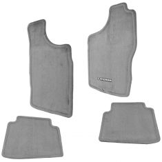 00-04 Nissan Xterra Embroidered ~XTERRA~ Charcoal Carpeted Frnt & Rear Floor Mat Kit (Set of 4) (NS)