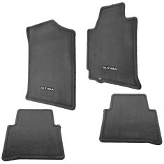 07-08 Nissan Altima Embroidered ~ALTIMA~ Charcoal Carpeted Frnt & Rear Floor Mat Kit (Set of 4) (NS)